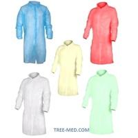 Одноразовый халат на кнопках (30 г/м2), 20 шт.